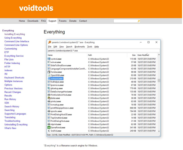 Everything Search Engine is made by Voidtools.